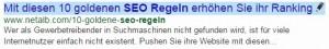 SEO Regeln - title-tag (Titel der Seite)