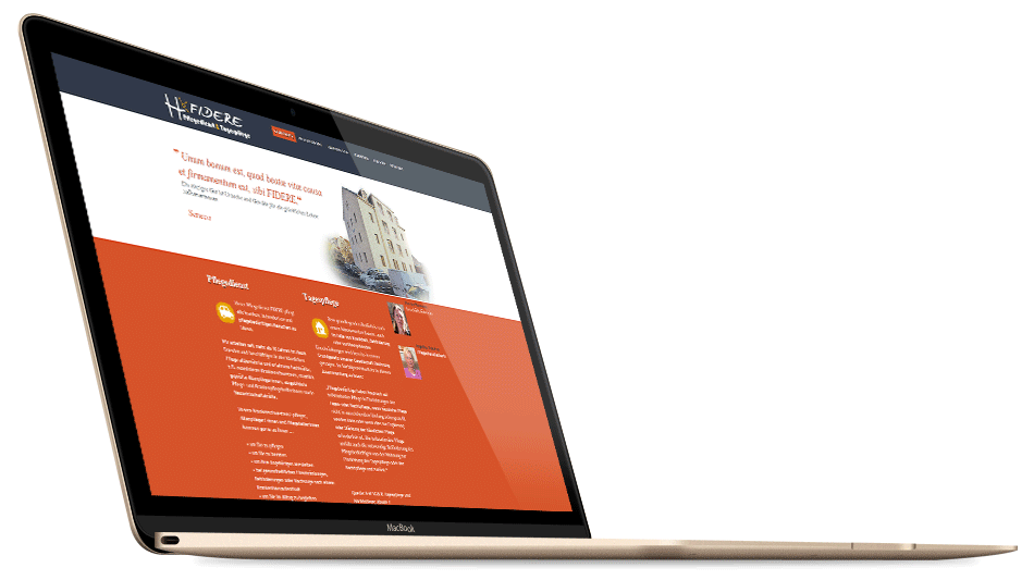 Website eines Pflegeunternehmens in  Dresden