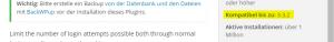 vor WordPress Updates plug-in kompatibilität prüfen