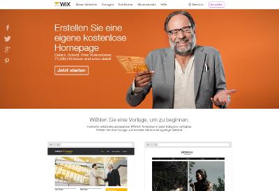 Wix Homepage-Baukasten