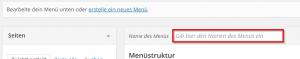 Wordpress menue anlegen