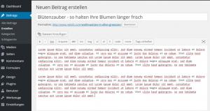 Text und Bilder in WordPress einfügen