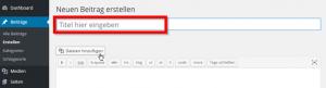 Aussagekräftiger Seitentitel in WordPress vergeben