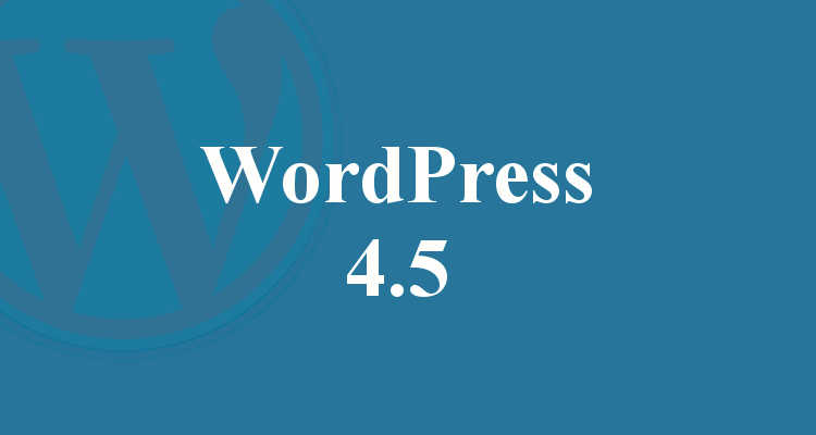 Wordpress 4.5 Update