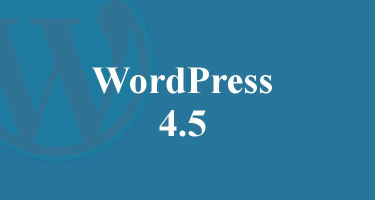 Wordpress 4.5 Update