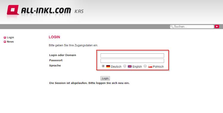 FileZilla Webseite auf Server übertragen
